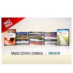 ALL MUSIC CD/DVD COMBO SALE - HALF PRICE