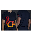 NAVY BLUE T-SHIRT W/CF LOGO