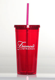 FRANCES & FRIENDS, RED INSULATED TUMBLER